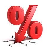 Discount percentage — Stock Photo