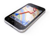 Mobile gps concept - smartphone navigation — Stock Photo
