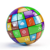 Cloud of application icons — Stock Photo