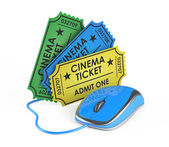 Cinema ticket online booking — Stock Photo