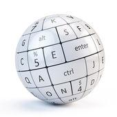 Sphere from keyboard keys — Stock Photo