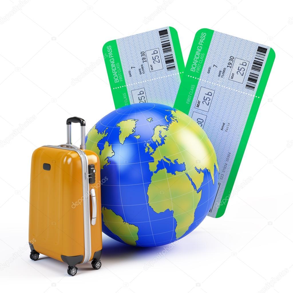Vliegtuig vliegtuigreizen naar Spanje of Turkije