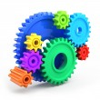 Colorful gear wheels — Stock Photo