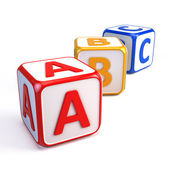 Alphabet ABC cubes — Foto de Stock