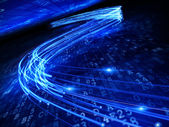 Digital optical fiber — Stockfoto