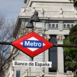 Metro Sign - Madrid — Stock Photo