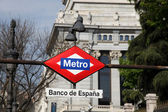 Metro Sign - Madrid — Stock Photo