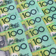 Australian One Hundred Dollar Notes — Stock Photo