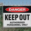������, ������: Danger keep out