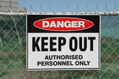 Danger keep out — Stock Photo
