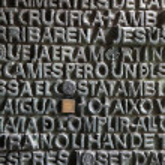 Door Detail Sagrada Familia — Stock Photo