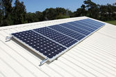 Roof Top Solar Power — Stock Photo