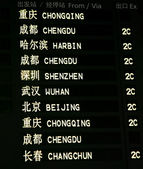 Chinese Airport Departure Board — Foto de Stock