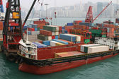 Container-barge — Stockfoto