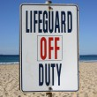 Stock Photo: Lifeguard off duty