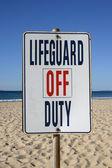 Lifeguard off duty — Stock Photo