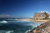 Nobbys Lighthouse - Newcastle Australia — Stock Photo