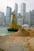 Hong Kong Island - Land reclaimation — Stock Photo