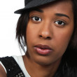 Pretty Black woman in hat — Stock Photo #25543283