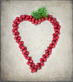 Red Christmas heart decoration — Stock Photo