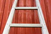 Rustic wooden ladder — Stock Photo