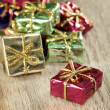 Closeup of small Christmas gifts — Stock Photo