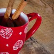 Cup of mulled wine — Stock Photo