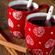 Two cups of mulled wine - Stock Photo