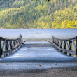 Wooden old pier at Lake Crescent - Stock Photo