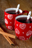 Two cups of mulled wine — Stock Photo