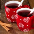 Stock Photo: Mulled wine with cinnamon