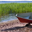 Rowing boat at sea shore — Stock Photo