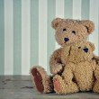 Two teddy bears hugging — Stock Photo
