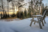 View at wintry landscape — Stock Photo