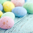 Small pastel easter eggs — Stock Photo #21641425
