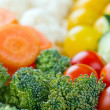Selection of colorful healthy vegetables — Stock Photo