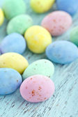 Small pastel color easter eggs — Stock Photo