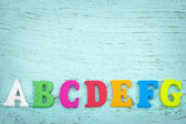 Lettres de l'alphabet coloré avec espace copie — Photo