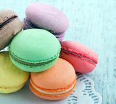 Assortment of pastel color macaroons — Stock Photo