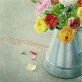 Bir metal renkli düğünçiçeği demet can — Stok fotoğraf
