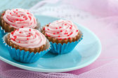 Yummy pink chocolate confectiorery — Stock Photo