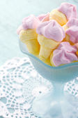 Pink ice cream shaped marshmallows — Stock Photo