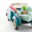 Toy truck packed with furniture for moving — Stock Photo #25150445