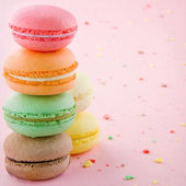 Pile of colorful macaroons — Stock Photo