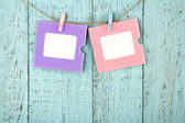 Two empty colorful photo frames — Stock Photo