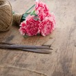 Bouquet of pink carnations — Stock Photo #32148685