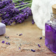 Spa cosmetic and wellness products of lavender — Stockfoto