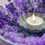 Closeup of a burning candle — Stock Photo #32151079