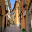 Street view in old town Porlezza — Stock Photo