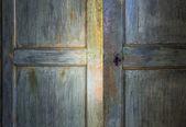 Puerta de madera antigua verde — Foto de Stock